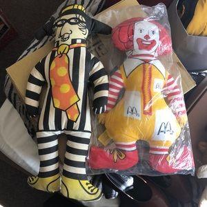 Ronald McDonald and Hamburglar Dolls